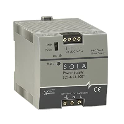 Sola/Hevi-Duty SDP4-24-100RT DC Power Supply, 24-28 VDC, 4.2 Amp, 47-63 Hz