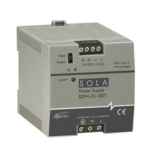 Sola/Hevi-Duty SDP06-24-100T DC Power Supply, 24-28 VDC, 0.6 Amp, 47-63 - Transformers Sola Duty Hevi