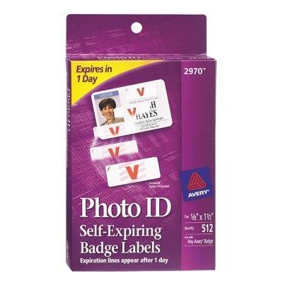 (Avery Photo ID Self-Expiring Badge)