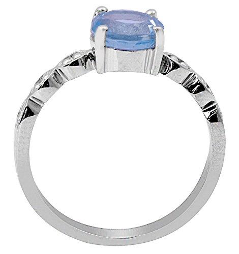 Banithani 925 pur argent topaze bleue concepteur bague en pierre bijoux de mode indienne