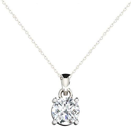 Libertini pendentif argent 925 femme serti de Diamant en forme de Rond