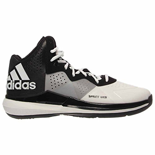 Adidas Men's Intimidate Basketball Shoes Sneakers, White/Black/White Size 10.5 D(M) US