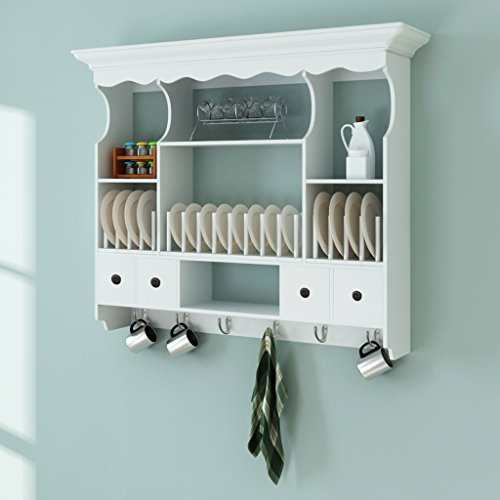 SKB Family White Wooden Kitchen Wall Cabinet