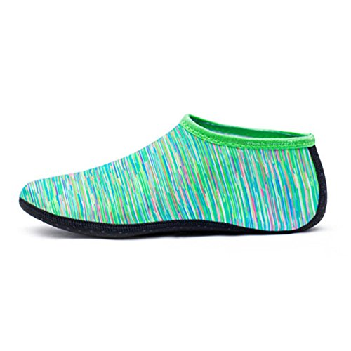 Interesting Unisex Water Shoes Aqua Beach Sock Yoga Exercise Pool Dance Swim Slip On Surf For Child/Adult Green