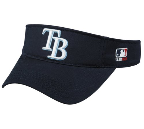 MLB ADULT Tampa Bay RAYS Home Navy Blue VISOR Adjustable Velcro TWILL