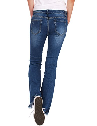 Azul Fraternel mujer franja con corte Pantalones bota Vaqueros cgqn7r0xg