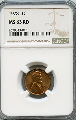 1928 Lincoln Cent Cent MS-63 NGC