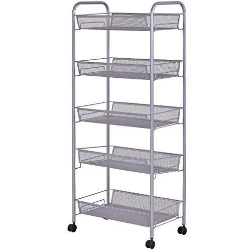 Giantex Storage Trolley Kitchen Organizer