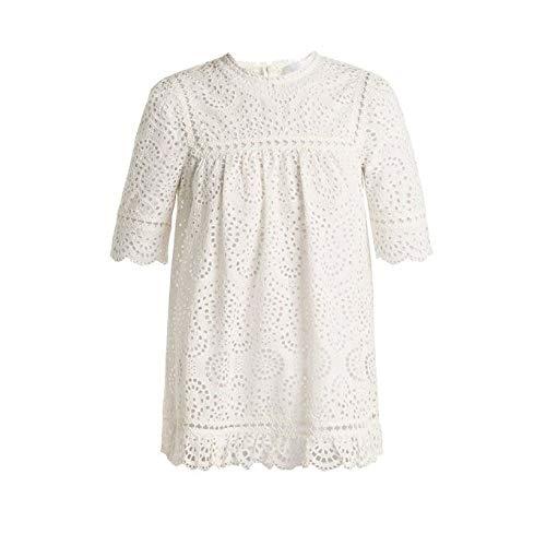 習慣南アメリカ脱臼する(ジマーマン) Zimmermann レディース トップス Bayou embroidered cotton top [並行輸入品]