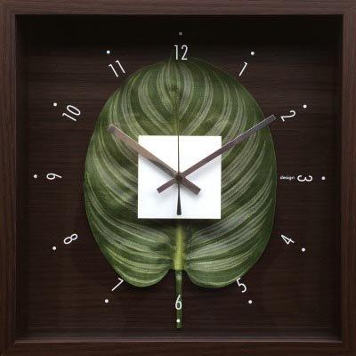 時計 デザイン クロック リーフ カトレア 絵画 インテリア 壁掛け アート ポスター フック 海 ピカソ 額縁 B01H539GM2