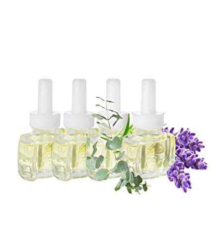 (4 Pack) Relax Blend (with Lemon, Lavender & Eucalyptus) Plug in Refills - fits Air Wick® Scented Oil Warmers