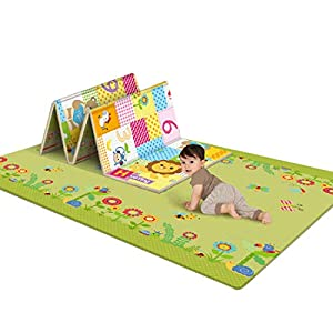 LuoKe Baby Crawling Mat LDPE Waterproof Double-Sided Living Room Play Carpet, 180 x 100 x 1cm
