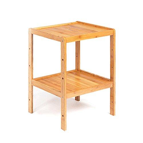 Standing Shelf Bathroom Wood Organization Storage Rack Standing Shelving Unit Living Room Bamboo Bookcase Cube Kitchen Cabinet Bookshelf Flower Rack (Size : 2-tier) by LPZ-Shelving (Image #4)