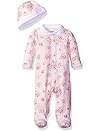 Baby Girl Blooms Footie with Hat by Little Me