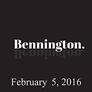 Bennington, February 05, 2016 Radio/TV Program