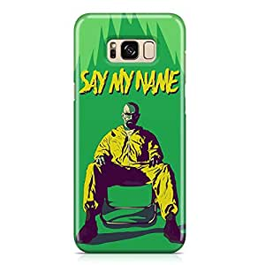 Samsung S8 Plus Case breaking Bad Case SAY MY NAME 2 Tv Show Samsung Samsung S8 Plus Cover Wrap AroundLight weight and tough case