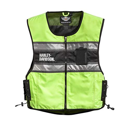 (Harley-Davidson Official Men's Hi-Vis Vest, Yellow (Large))