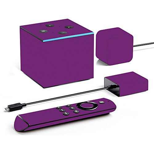 - MightySkins Skin Compatible with Amazon Fire TV Cube - Solid Purple | Protective, Durable, and Unique Vinyl Decal wrap Cover | Easy to Apply, Remove, and Change Styles | Made in The USA