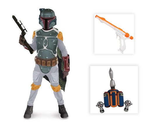 Star Wars: Boba Fett Child Costume with Jetpack and Gun - Small (Boba Fett Jetpack Costume)