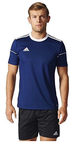adidas Men's Squadra 17 Soccer Jersey Training Top Football (XL, Dark Blue/White)