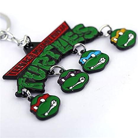 CLEARNICE Llavero Adolescente Mutante Ninja Tortugas Clave ...