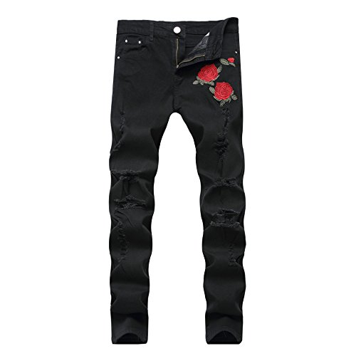 slim ripped fashionable colorful super