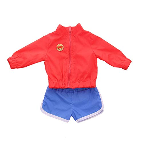 Cinhent Toys, Costumes Doll Clothes Dress for 18 inch American Girl Doll, Daily Sportswear, Two-Piece Suit, Durable Good-Looking Design, Girls Pretend Play Gifts, Easy Wear (No Doll)