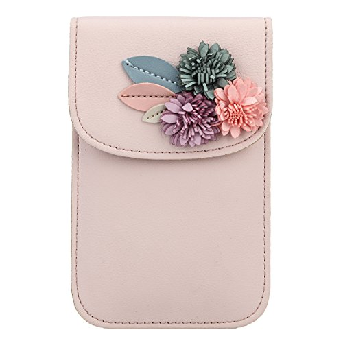 Wallet PU And Bag Clutches Bags Evening Phone Women For Clutch Flower Fawziya Mobile Pink Leather wIT8zO