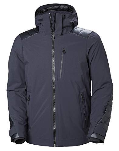(Helly Hansen Men's Slingshot Waterproof Insulated Ski Jacket, Graphite Blue, Large)