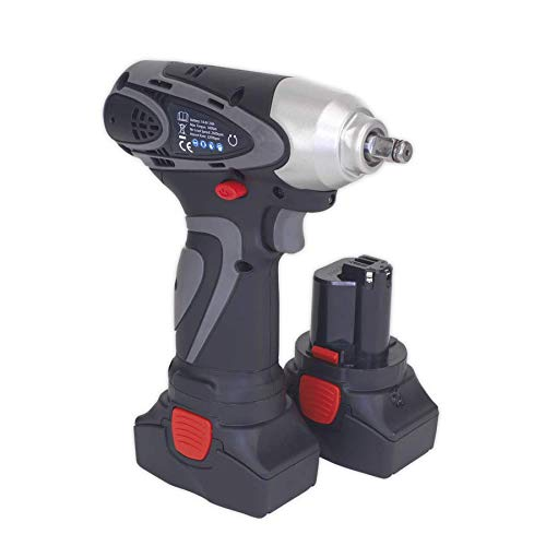 2 Batteries 40min Charger Sealey CP6001 Cordless Impact Wrench 14.4V 2Ah Lithium-ion 3//8Sq Drive 140Nm