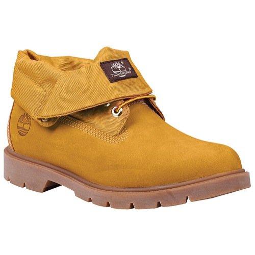 (Timberland Men's Basic Single Roll Top Boot, Wheat Nubuck/Cordura, 14 Medium US)
