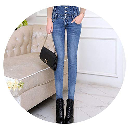 Dojo All Seven Mankind For (Jeans Womens High Waist Elastic Skinny Denim Long Pencil Pants Back Cross Woman Jeans Camisa Feminina Trousers)