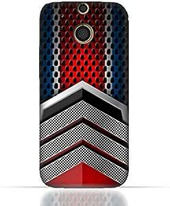 HTC M8 TPU Silicone Case With Geometric Mesh Pattern Design