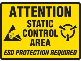 - Adhesive Vinyl Attention Static Control Area Sign - 7