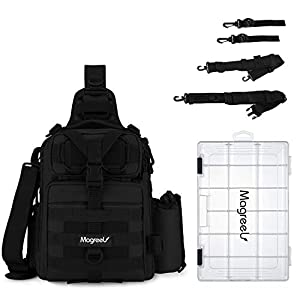 Magreel Fishing Tackle Backpack with Rod Holder