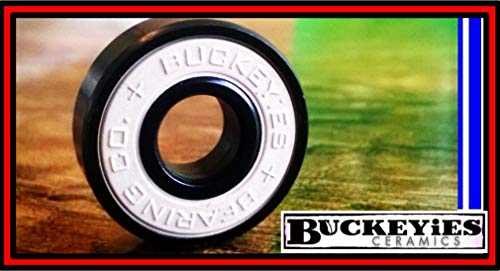 BUCKEYiES Silicon Nitride Ceramic Skateboard Bearings - Compare to Swiss Bones Ceramics but Affordable for Young -