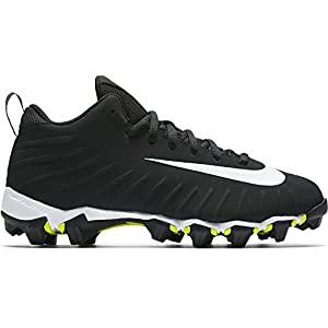 NIKE Boy's Alpha Menace Shark BG Football Cleat Wide Black/White Size 6 M US