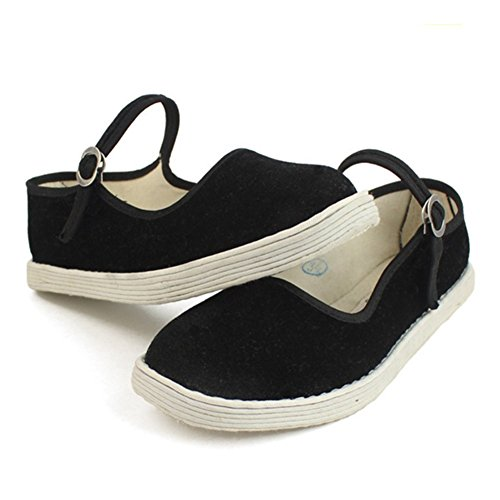 Shoes Yoga Shoes Exercise FANGDA Womens Public Dancing Qquare Traditional Chinese Cotton xI6qP