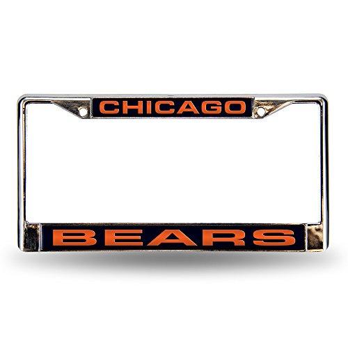 Rico Chicago Bears Laser Chrome Frame (Chicago Laser License Plate Bears)