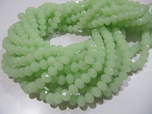 - AAA Quality Green Chalcedony Beads / 8mm Size Rondelle Faceted Beads / 70 to 75 Beads approx per Strand / Hydro Quartz Green Beads