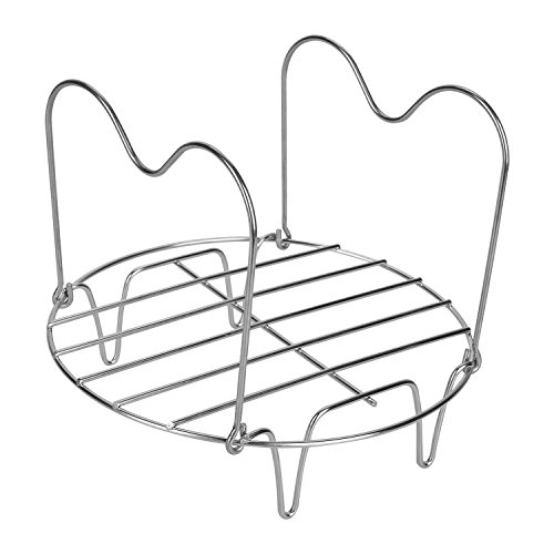 Upgraded Steamer Rack Trivet with Handles Stainless Steel Cooker Rack Multipurpose Vegetable Steamer Rack Stand for Instant Pot 6Qt 8Qt and Other Electric Pressure Cookers