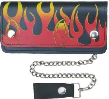 Long Biker Leather Chain Wallet Large 8