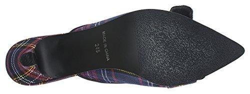 Scarpe Da Donna Annakastle Sandali Con Tacco Mulo E Gattino In Camoscio Blu Navy