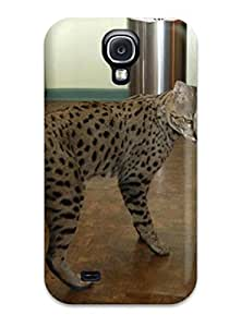 Flexible Tpu Back Case Cover For Galaxy S4 Savannah Cats