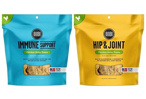 BIXBI Hip & Joint Chicken Jerky Dog Treats, 12 Ounces Immune Support Chicken Jerky Dog Treats, 12 Ounces