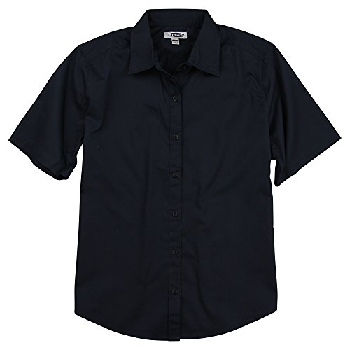 Edwards Women's Short Sleeve Button Down Cotton Twill Shirt (Navy, Small)