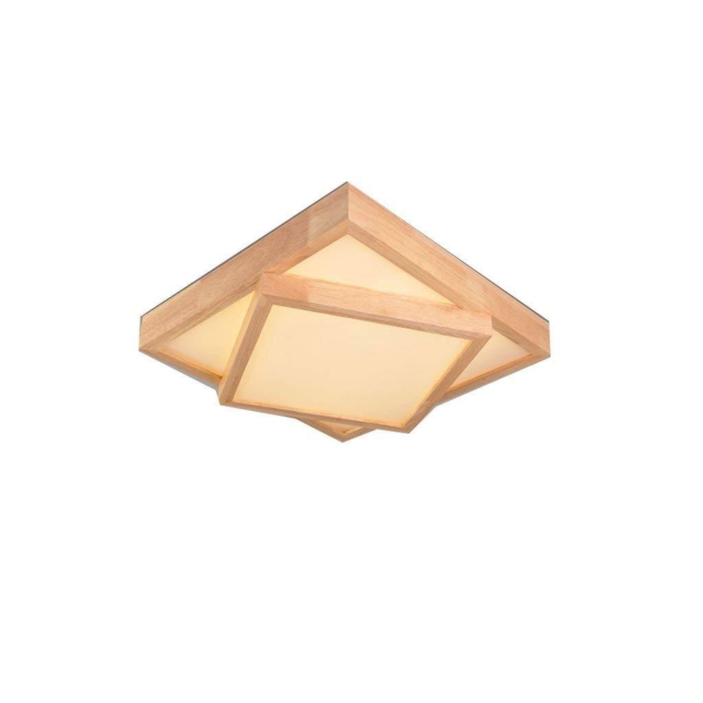 JJSFJH デザインハウスライトセミフラッシュマウントシーリングライト、スクエアログインテリジェンス北欧和風シーリングライト幾何学的な部屋の組み合わせベッドルームリビングルームのランプシーリングライト (版 ばん : Style A, サイズ さいず : L l) B07QBZ671P Style A L l