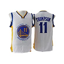 Mens Golden State Warriors Klay Thompson #11 Jersey White L