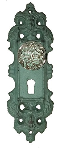 Mint Retro/Vintage Pull/Hanger with Decorative Glass Pull -Single Unit