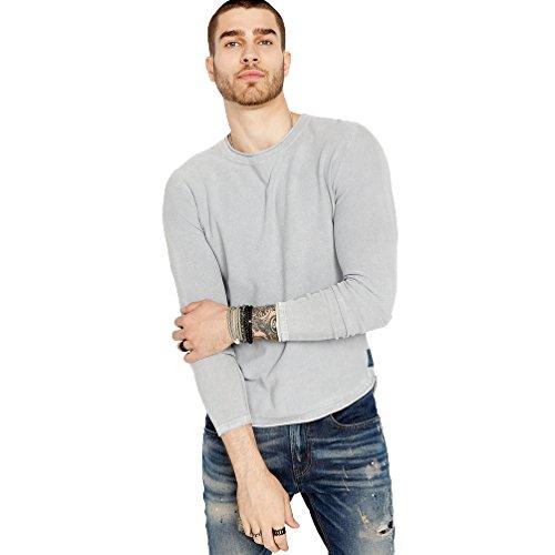 Washed Crewneck Sweater (Buffalo David Bitton Men's Wacity Long Sleeve Crewneck Washed Solid Fashion Sweater, Charlie, XX-Large)
